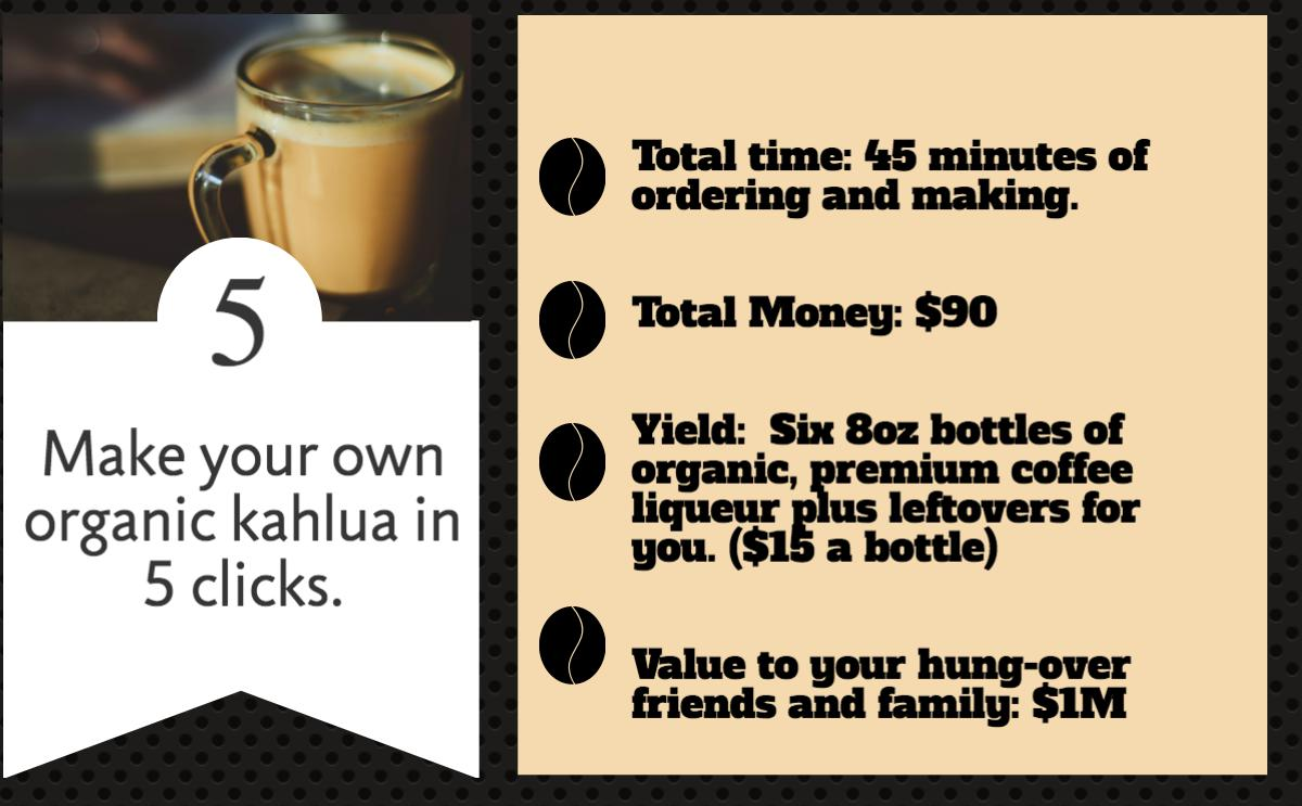 Trust Me Vodka Make your own organic kahlua coffee liqueur